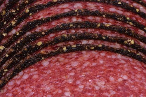 salami sausage pepper rim