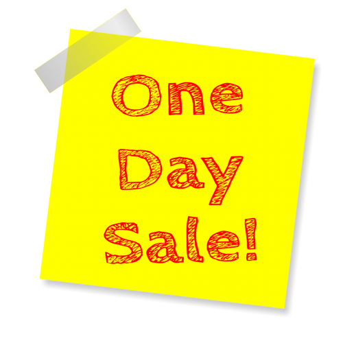 sale one day sale special