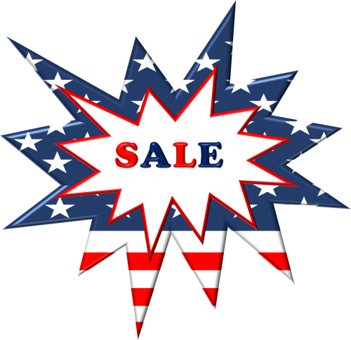 sales label patriotic