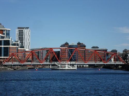 salford quays bridge dockland