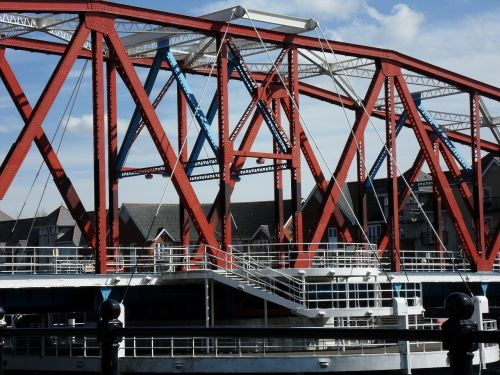 salford quays manchester docklands bridge