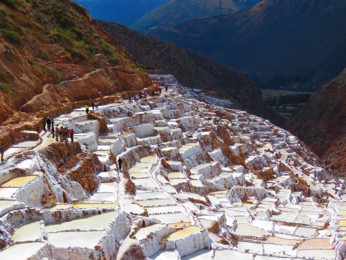 salinas of maras salt white