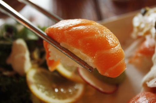 salmon sushi dining room