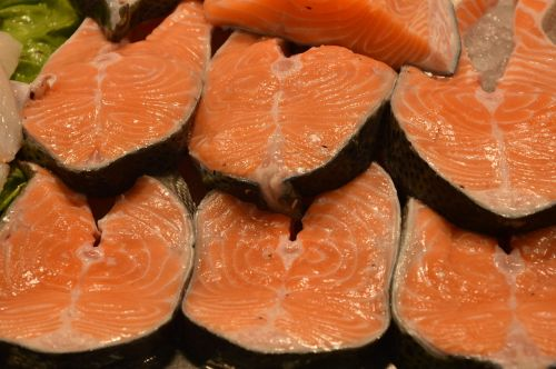 salmon fish market food