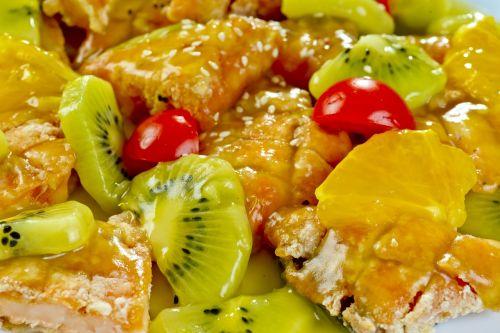 salmon kiwi fry
