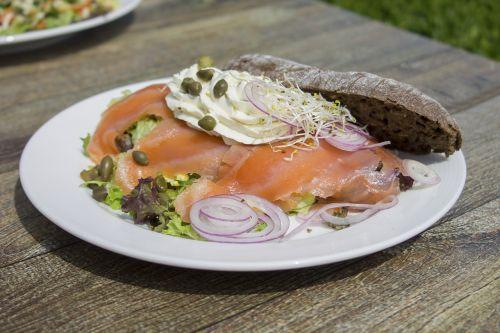 salmon fish breakfast