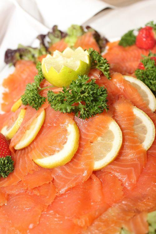salmon fish buffet