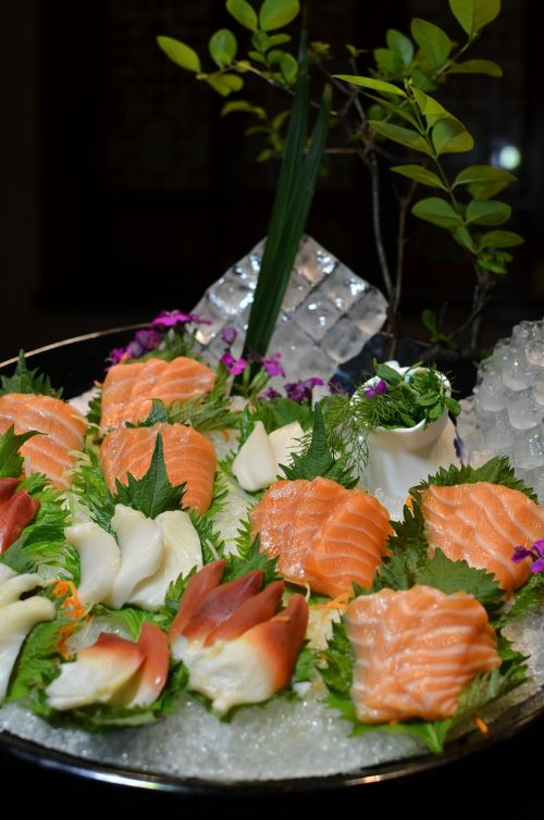 salmon vegetables catering
