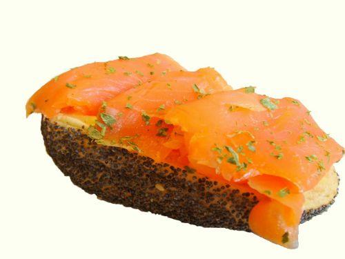 salmon sandwich smoked salmon sandwich