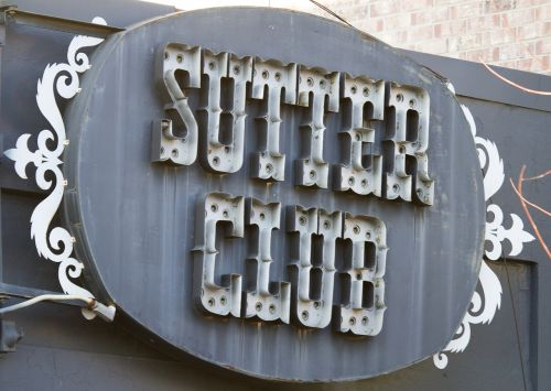 saloon sign sutter club