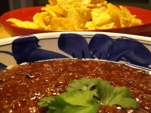 salsa salsa and chips chips