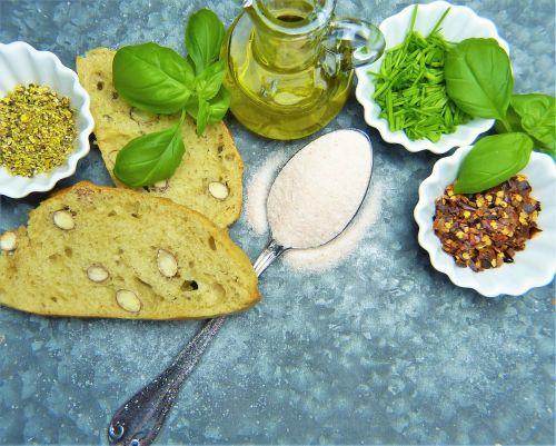 salt bread herbs