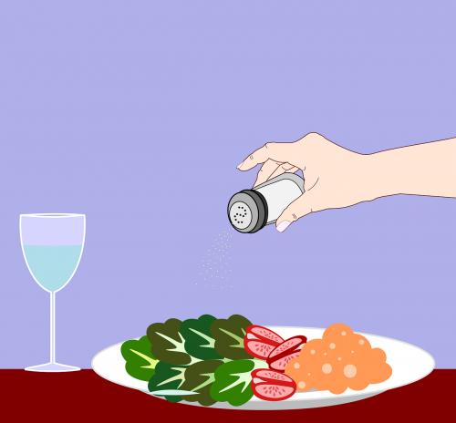 salt salt shaker salad