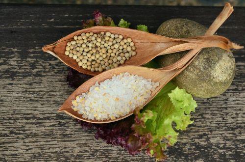 salt and pepper grains of salt peppercorns
