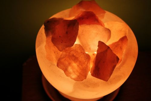 salt crystal lamp crystals