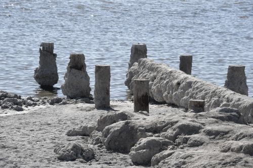 Salt Debris Salton Sea