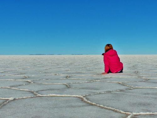 salt flats bolivia serenity