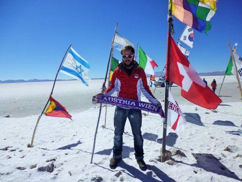 druskos butai, tuščias, uyuni, salar, salar de uyuni, Bolivija, platus, kelionė po pasaulį, vėliavos, balta