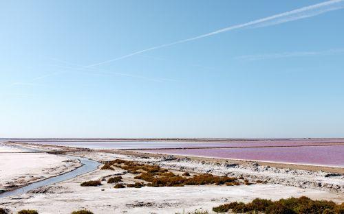 salt lake water landscape