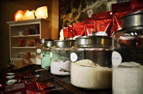 salts glass jar