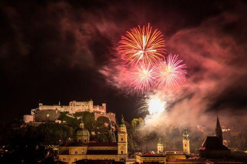 salzburg fireworks night photograph