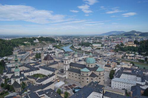 salzburg city of salzburg city view