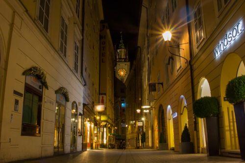 salzburg old town alley