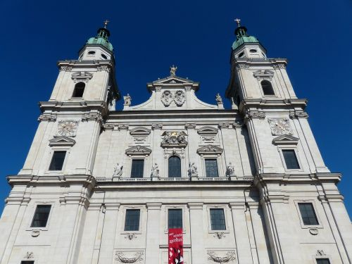 salzburg cathedral facade cathedral square