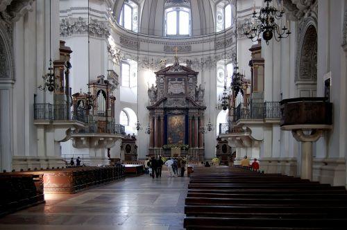salzburg cathedral church nave