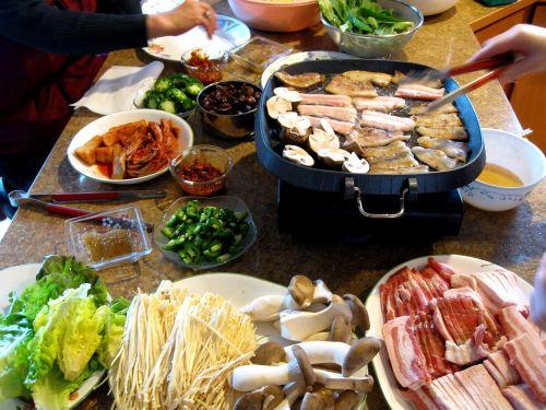 samgyeopsal pork belly korean cuisine
