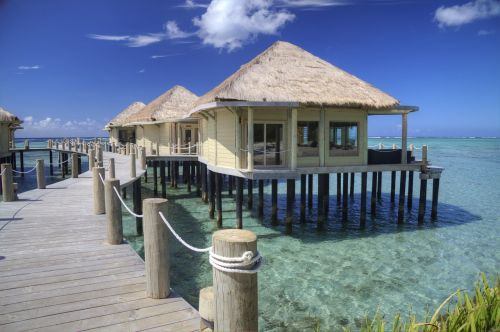 samoa beach hut ocean