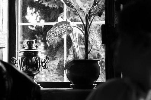 samovar window window sill