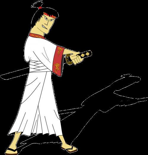 samurai sword man