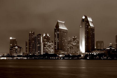 san diego skyline downtown