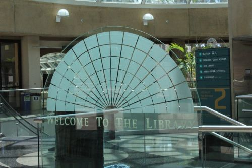 san diego state university library glass dome symbol