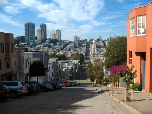 San Franciskas,Kalifornija,gatvė,miestas,orientyras,panorama,amerikietis,centro,usa,san francisco skyline,architektūra