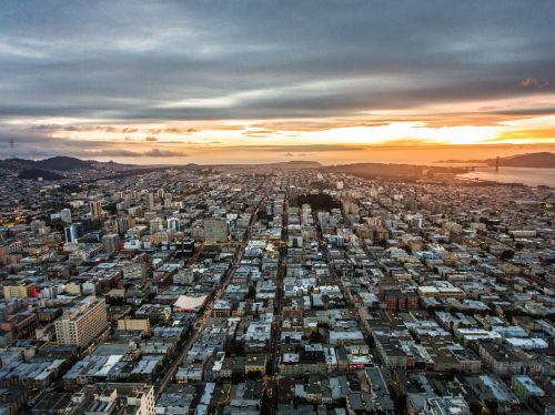 san francisco sunset urban