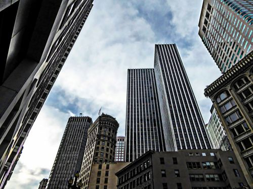 dangoraižiai, pastatai, biurai, miestas, miesto, San & nbsp, francisco, gyvenimo būdas, meno, dažytos, san francisco dangoraižiai
