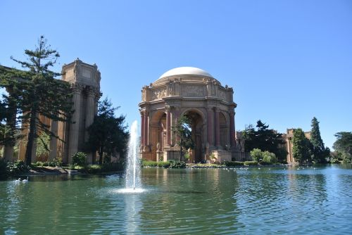 san fransisco palace of fine arts fountain