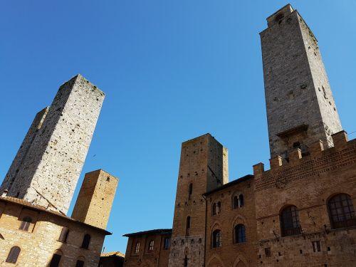 san gimignano italy towers