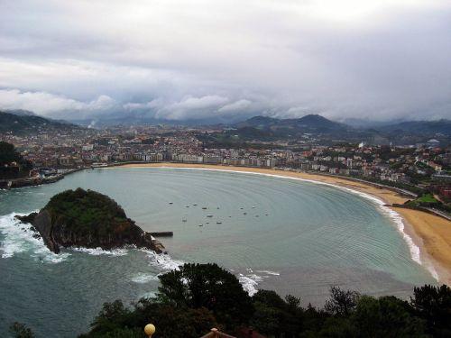 san sebastian beach panoramic view