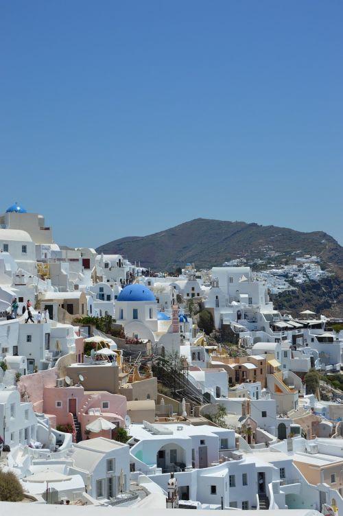san torini features island city