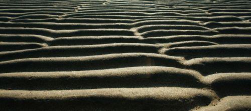 sand pattern bathing beach