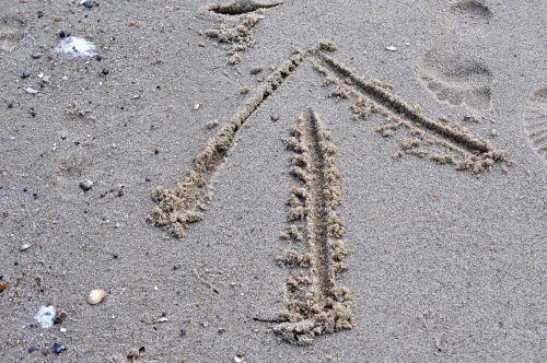 sand beach arrow