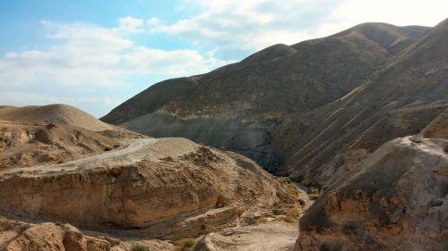 smėlis,dykuma,Judėjos dykuma,Izraelis,peizažas,kalvos,dangus,dykuma,uraganas,sausas,kraštovaizdis,upės griovys