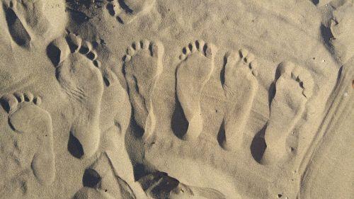 sand beach feet