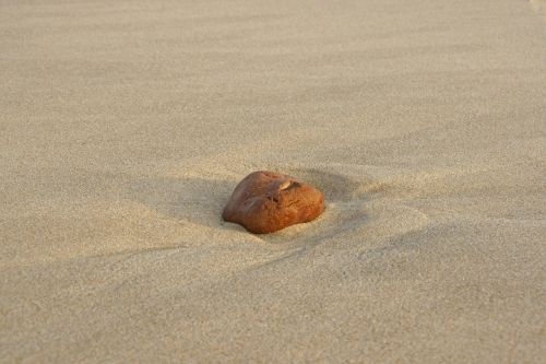 sand beach stone