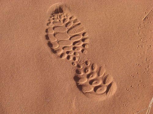 sand sole footprint