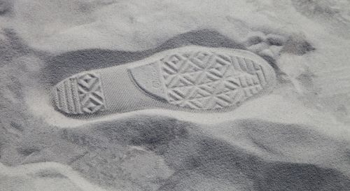 sand footprint foot step