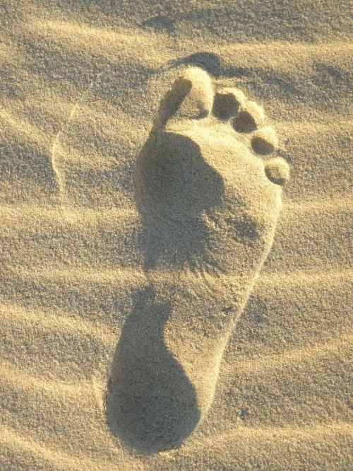 sand foot reprint